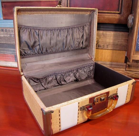 interior vintage suitcase