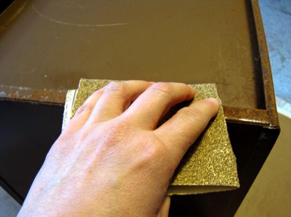 sanding off rust