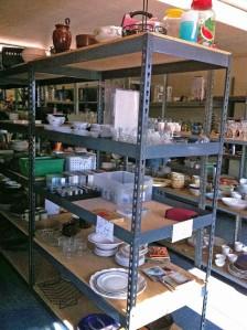 thrift store shelf