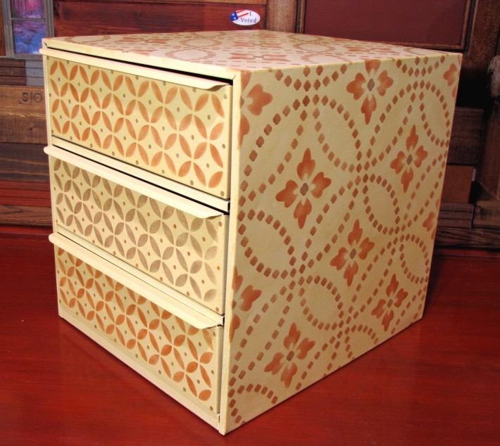 handpainted file box