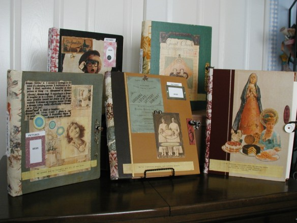 salvaged book binders