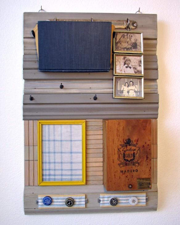 handmade mail organizer