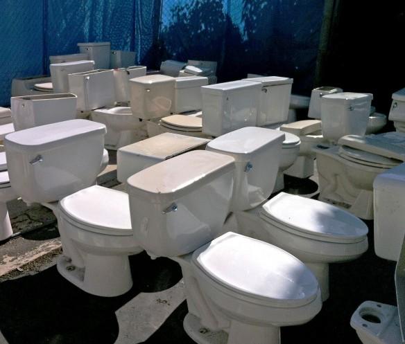 salvaged toilets