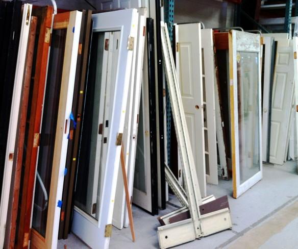 salvaged doors