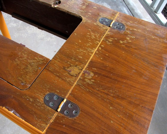 damaged table