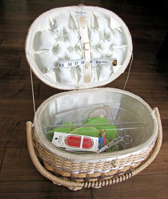 vintage sewing basket