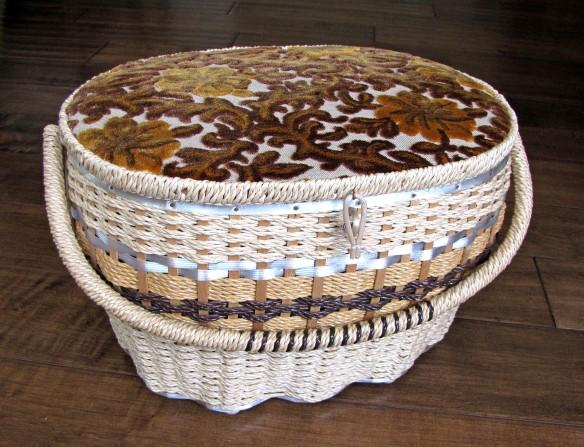 secondhand sewing basket