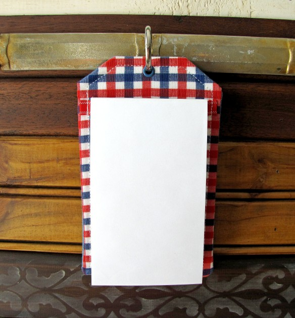 hanging note pad