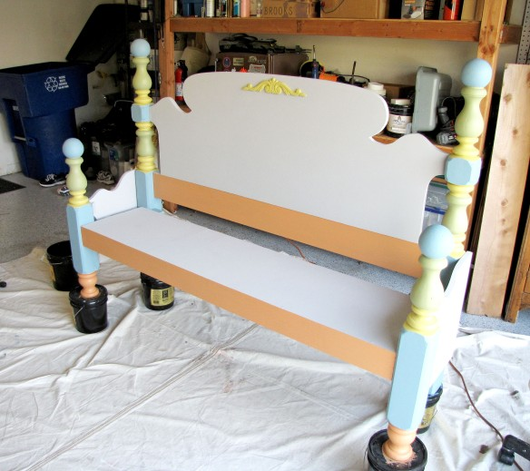 bench painting