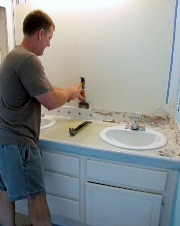 removing the backsplash