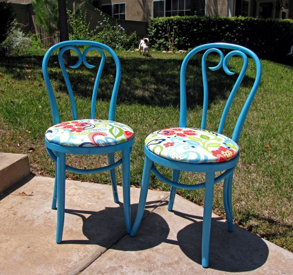 very colorful chairs