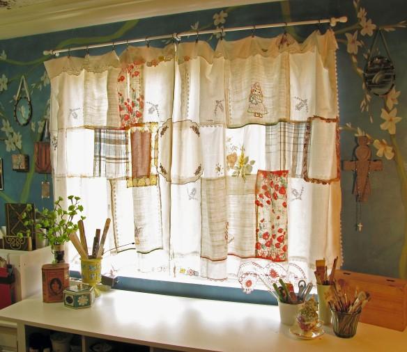 vintage patchwork curtain