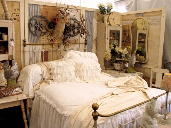 dreamy bed display