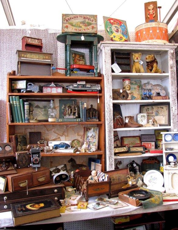 vintage books and tins