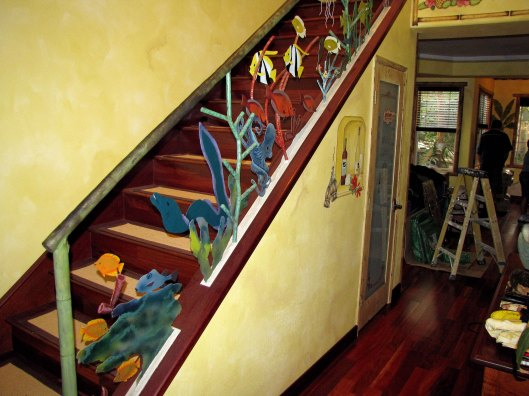 underwater stair railing