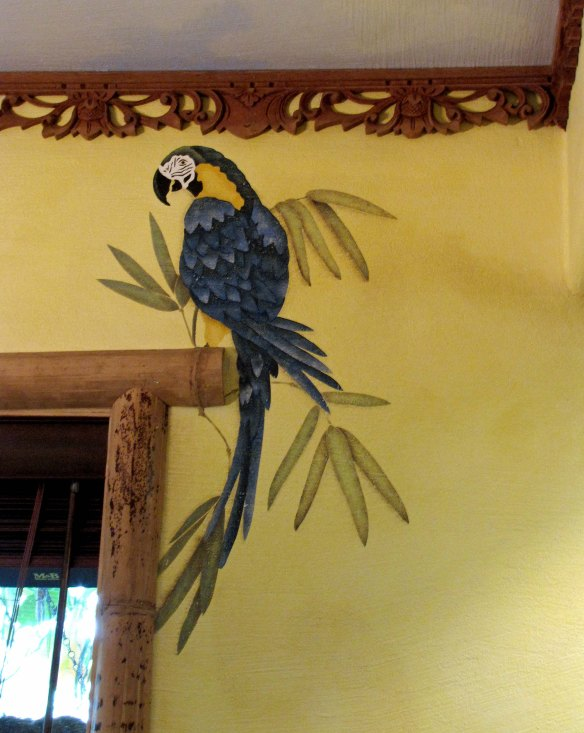 stenciled parrot