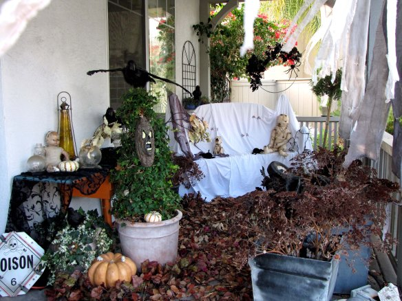 creepy abandoned porch