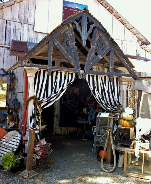 Halloween barn entrance