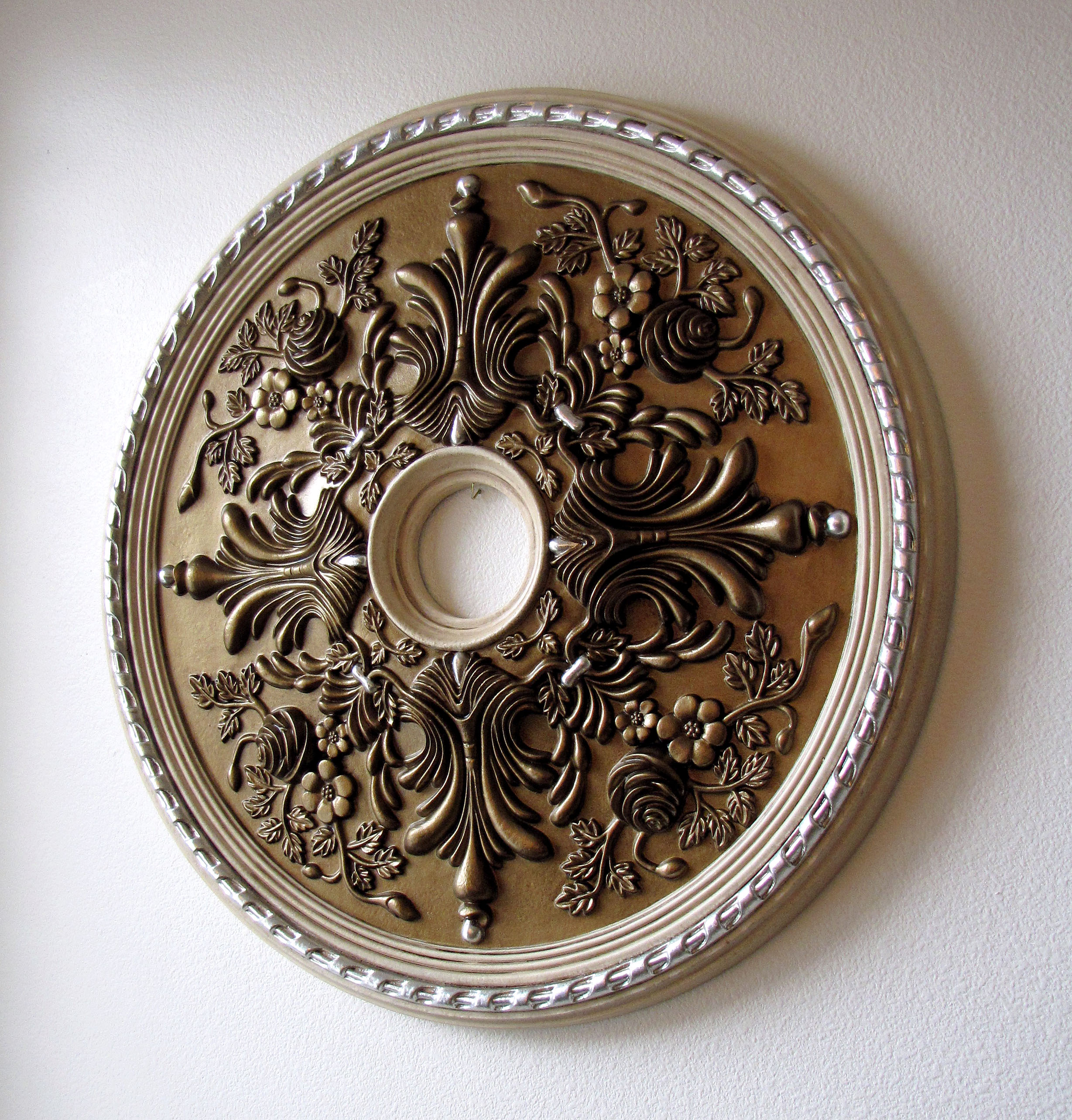 ceiling medallion paint ideas - How To Paint a Ceiling Medallion