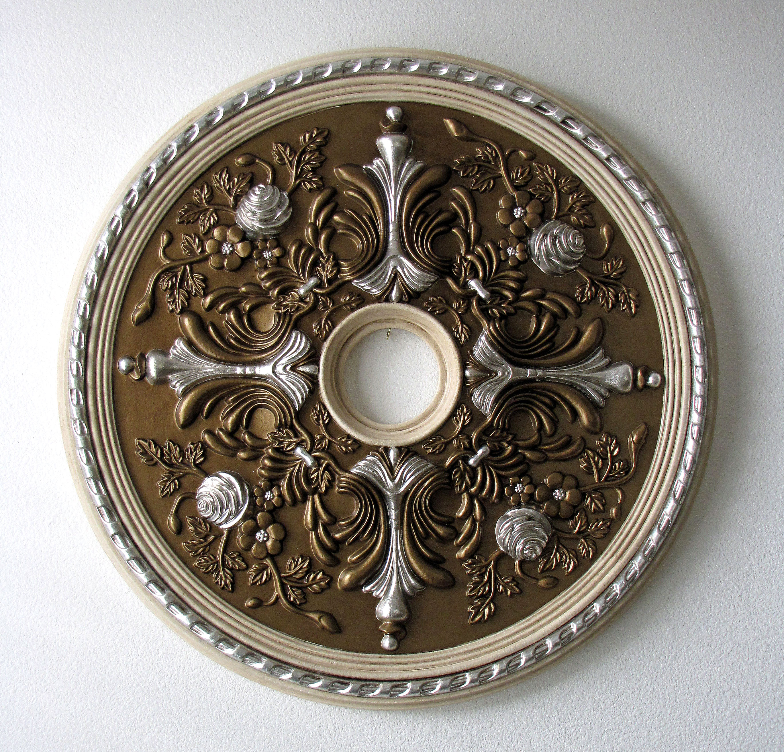 ceiling destashio a how painted finished brass paint to painting medallion