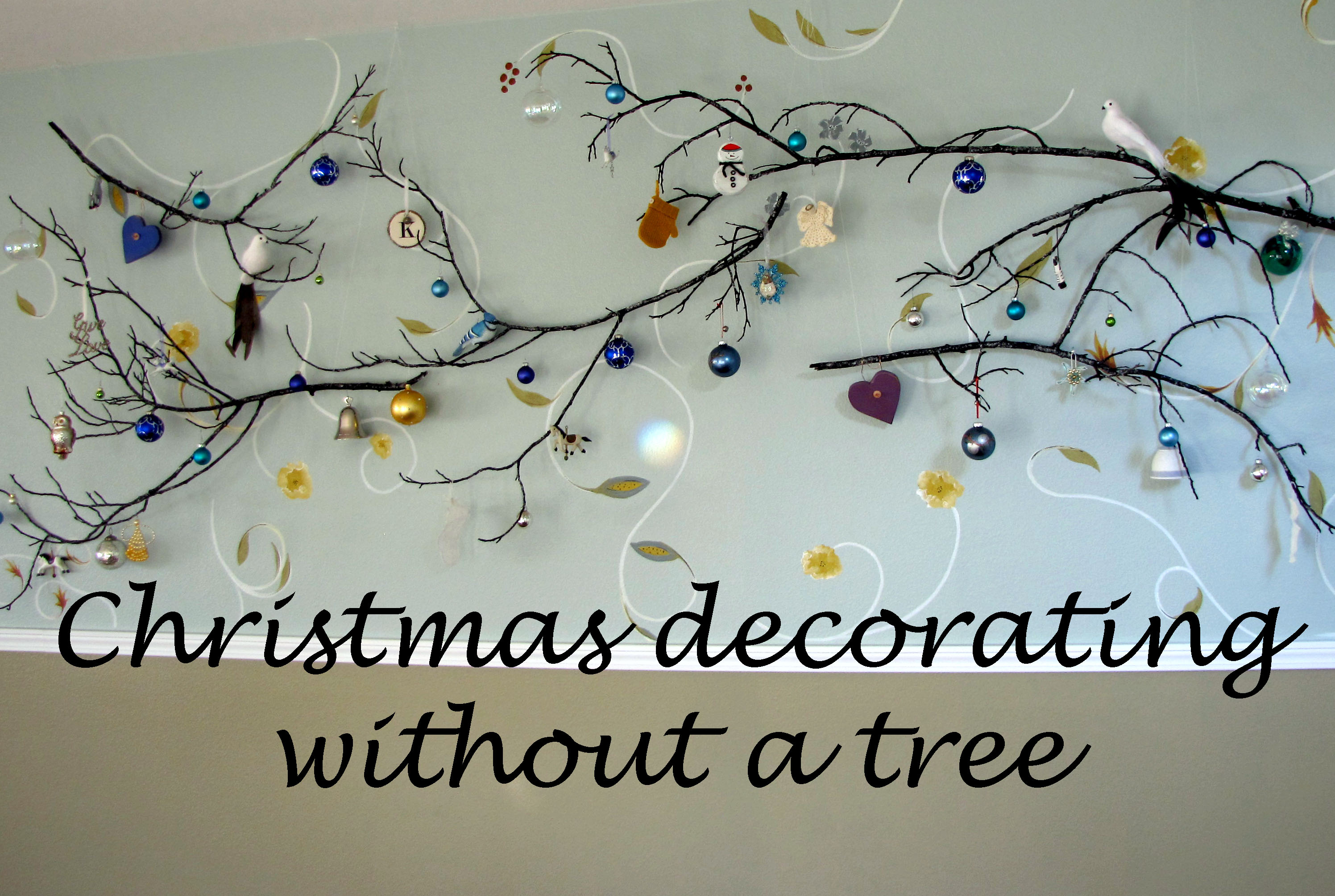 Christmas decorating without a tree destashio How to decorate a christmas tree without tinsel
