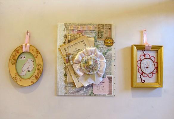trio of handmade art