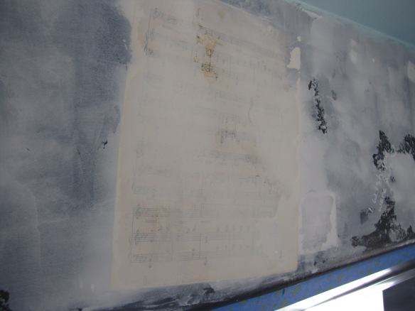 plaster over sheet music