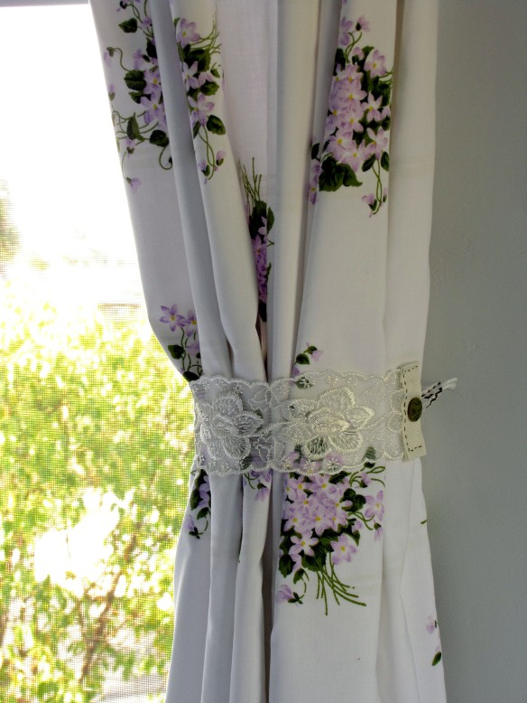 thrift store fabric curtains