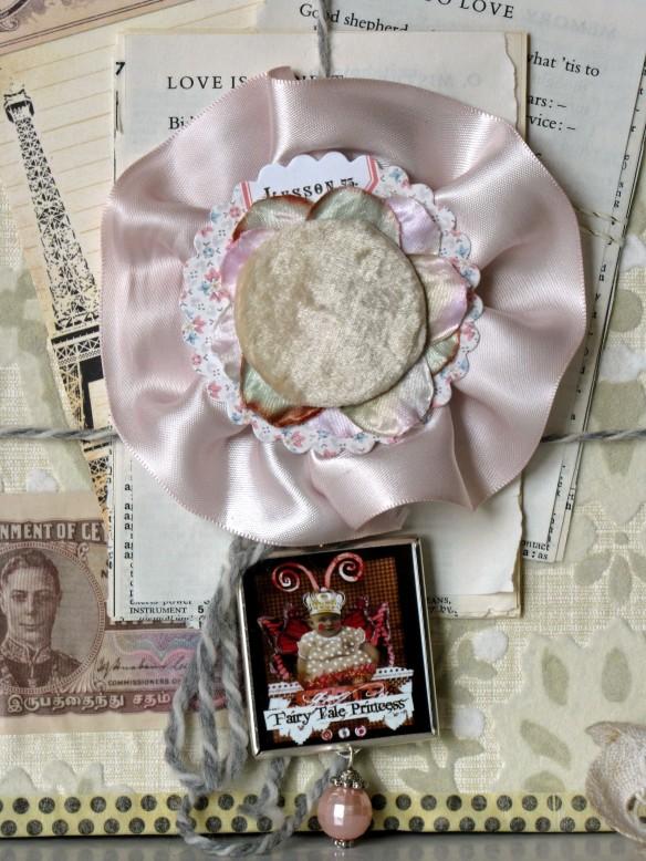 velvet rosette collage